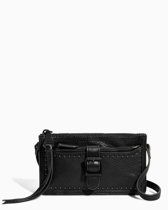 Around The World Phone Crossbody Black - front