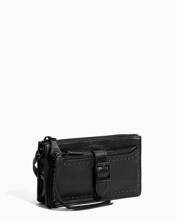 Around The World Phone Crossbody Black - side angle