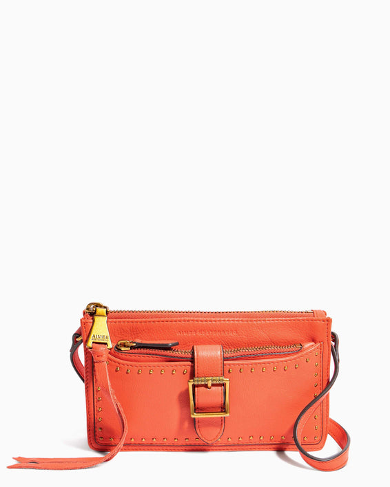 Around The World Phone Crossbody Coral - front