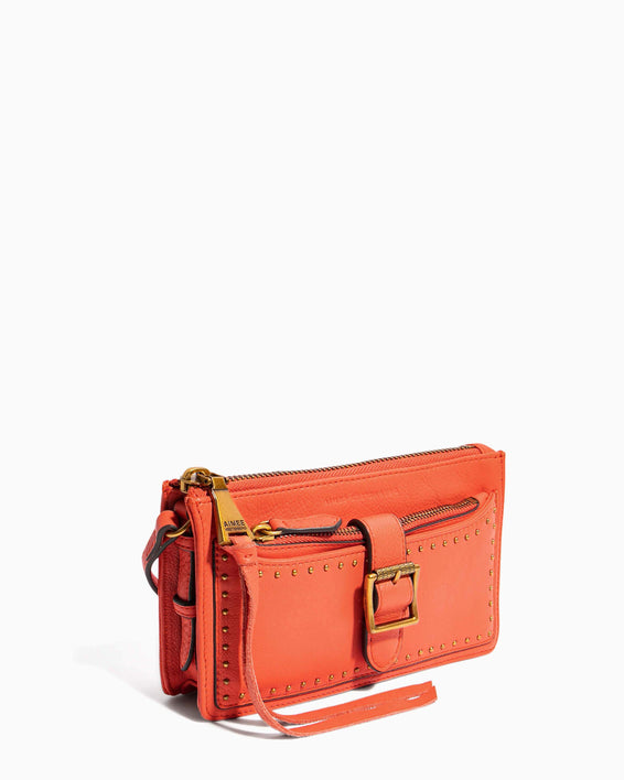 Around The World Phone Crossbody Coral - side angle