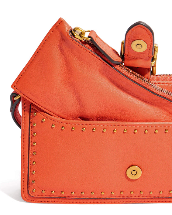 Around The World Phone Crossbody Coral - wallet detail