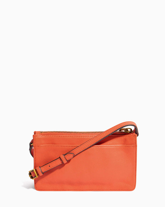 Around The World Phone Crossbody Coral - back