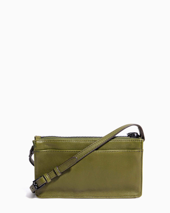 Around The World Phone Crossbody Olive - back