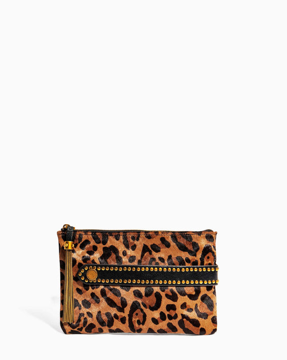 Dancing Queen Pouch Large Leopard Haircalf - front
