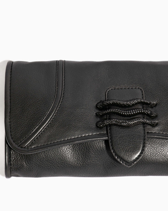 Fierce & Fab Clutch - black hardware detail