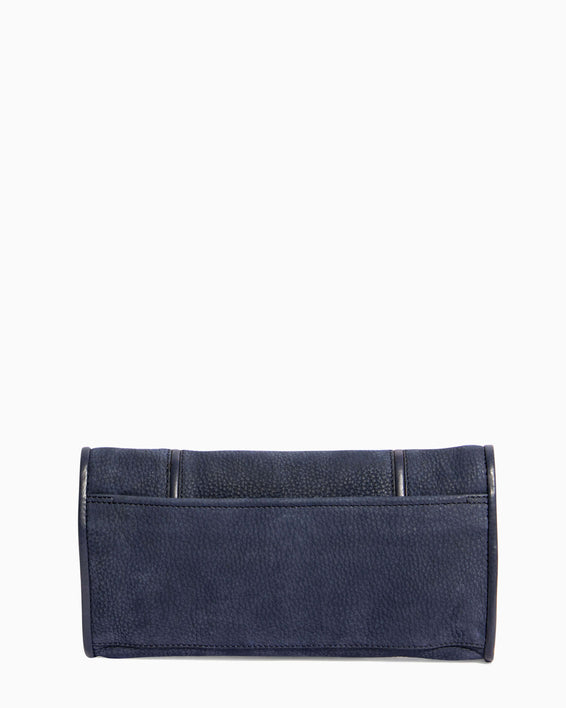 Fierce & Fab Clutch - deep indigo nubuck back