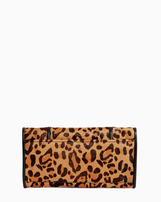 Fierce & Fab Clutch - large leopard haircalf back
