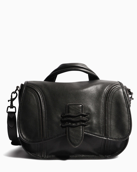 Fierce & Fab Saddle Bag - black front