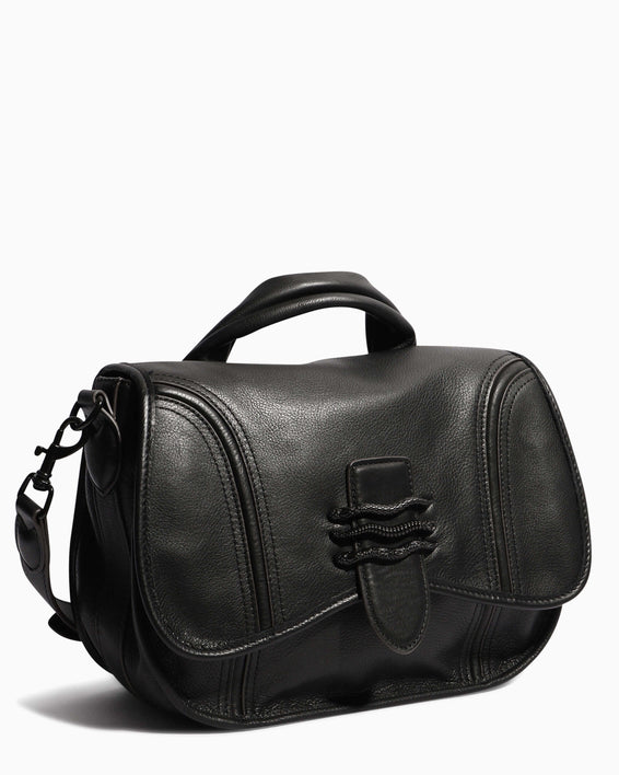 Fierce & Fab Saddle Bag - black side angle