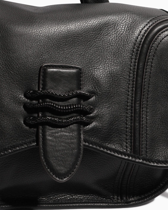 Fierce & Fab Saddle Bag - black detail
