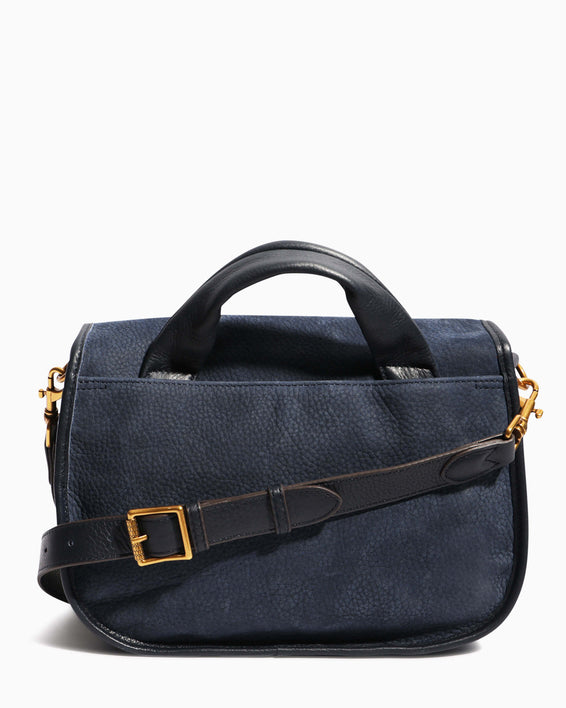 Fierce & Fab Saddle Bag - deep indigo nubuck back