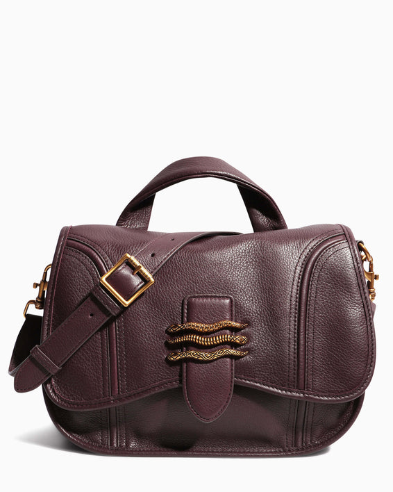 Fierce & Fab Saddle Bag - merlot front