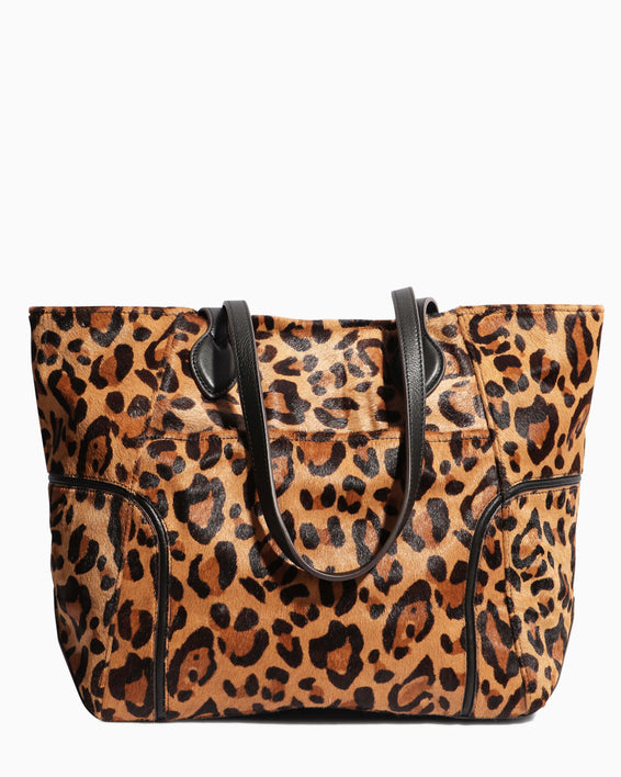Fierce & Fab Tote - large leopard haircalf back