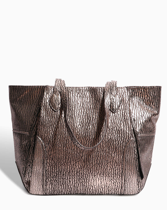 Fierce & Fab Tote - rose gold bubble lamb front