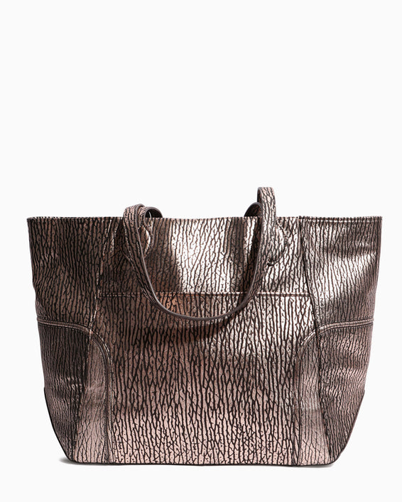 Fierce & Fab Tote - rose gold bubble lamb back