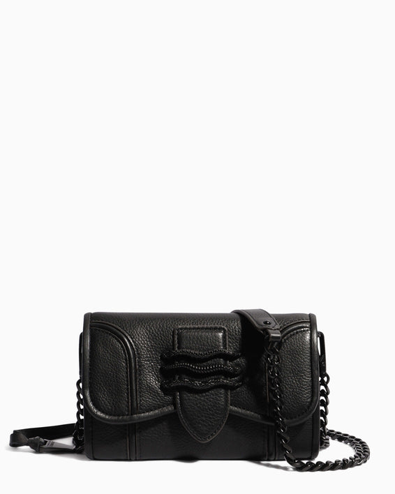 Fierce & Fab Wallet On A Chain - black front