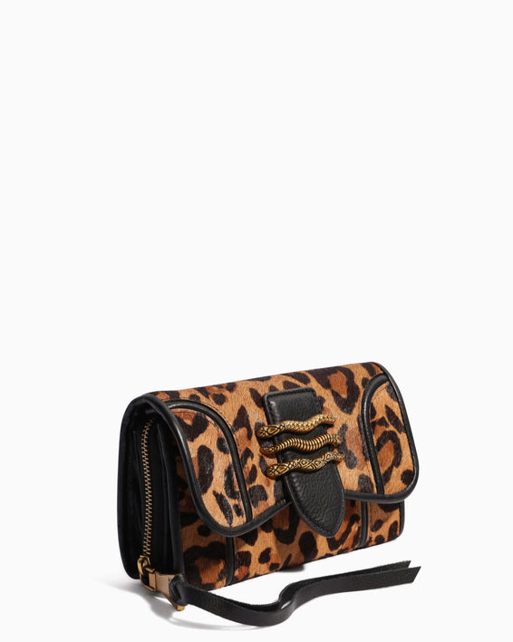 Fierce & Fab Wallet On A Chain - large leopard haircalf detail
