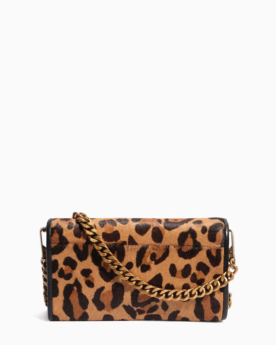 Fierce & Fab Wallet On A Chain - large leopard haircalf back