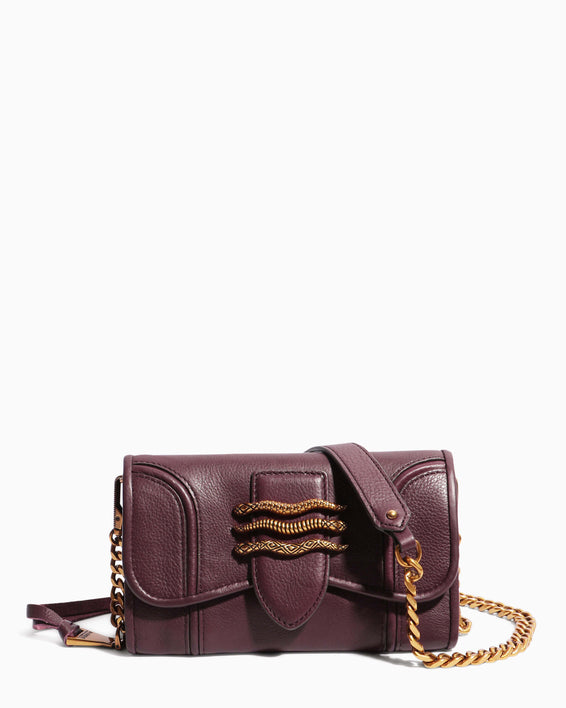 Fierce & Fab Wallet On A Chain - merlot front