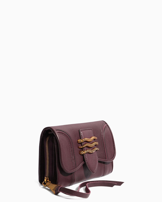 Fierce & Fab Wallet On A Chain - merlot detail