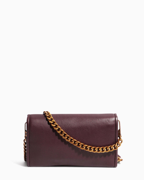 Fierce & Fab Wallet On A Chain - merlot back