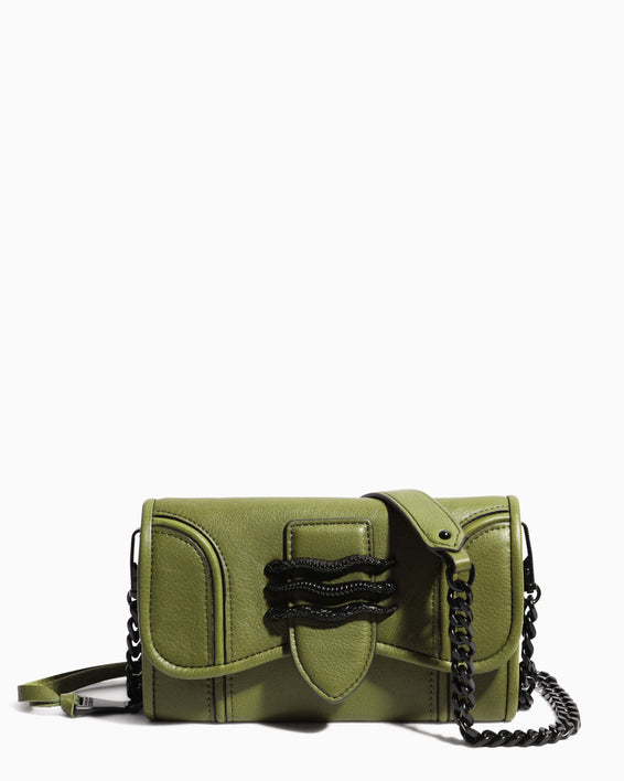 Fierce & Fab Wallet On A Chain - olive front