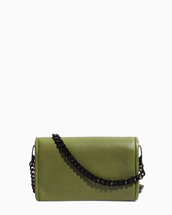 Fierce & Fab Wallet On A Chain - olive back