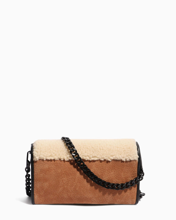 Fierce & Fab Wallet On A Chain - shearling back