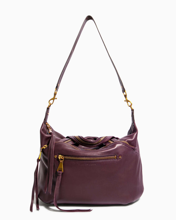Night Is Young Satchel - merlot with shoulder strap