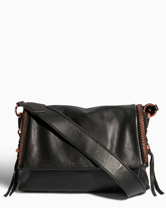 Night Is Young Shoulder Bag - black front