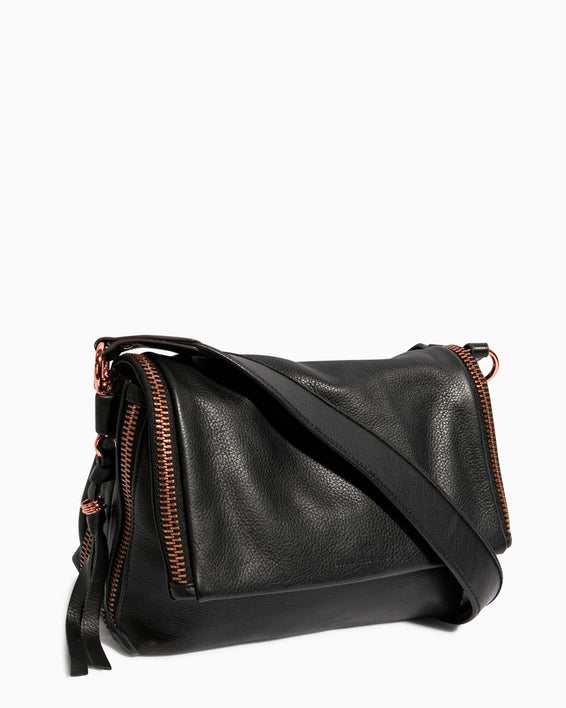 Night Is Young Shoulder Bag - black side angle