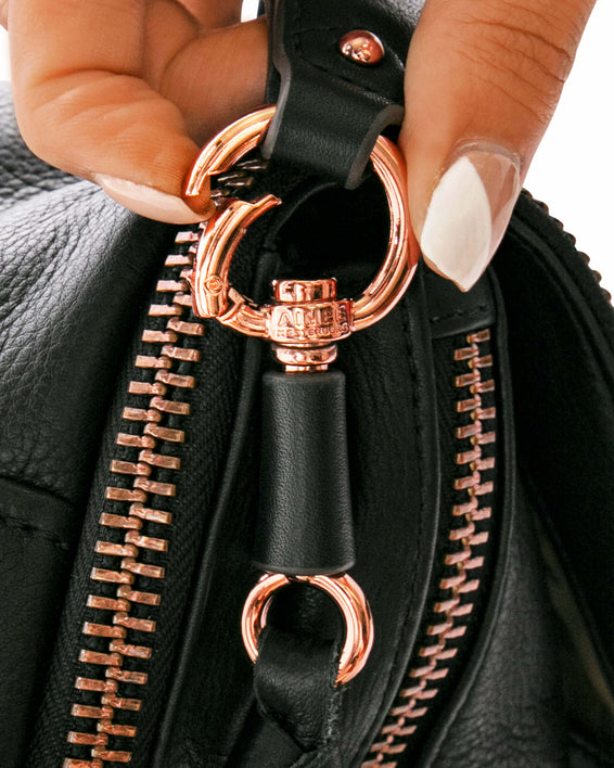 Night Is Young Shoulder Bag - black hardware detail