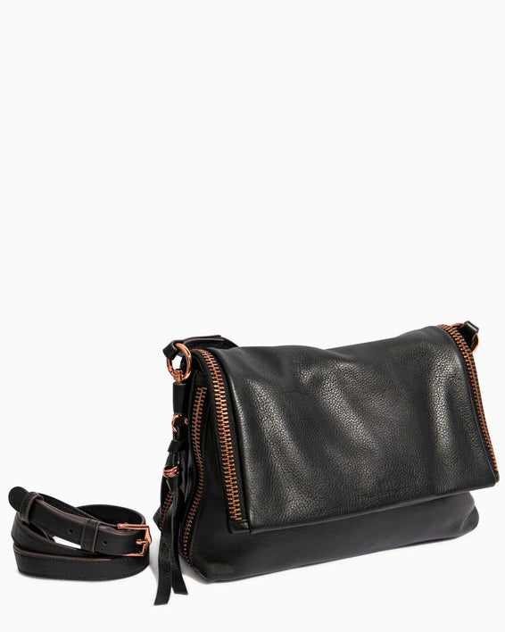 Night Is Young Shoulder Bag - black removable strap