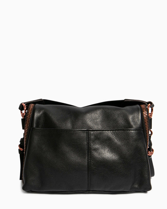 Night Is Young Shoulder Bag - black back