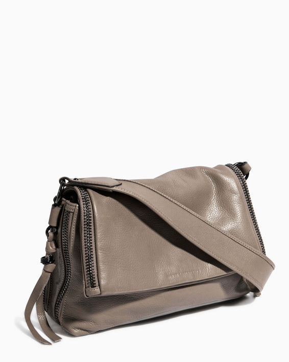 Night Is Young Shoulder Bag - charcoal side angle