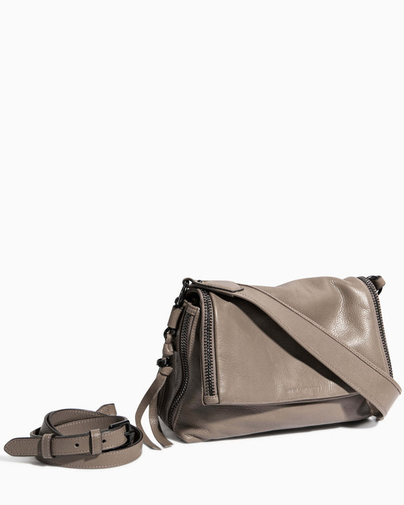 Night Is Young Shoulder Bag - charcoal removable strap