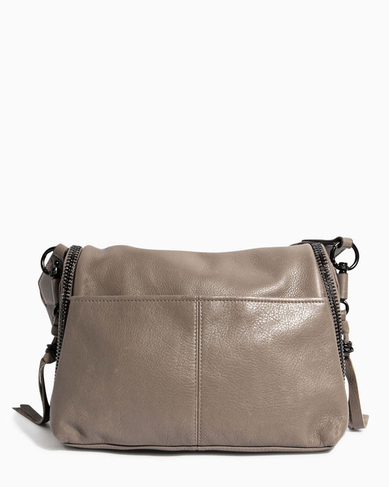 Night Is Young Shoulder Bag - charcoal back