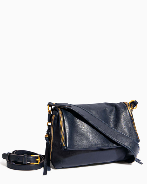 Night Is Young Shoulder Bag - deep indigo removable strap