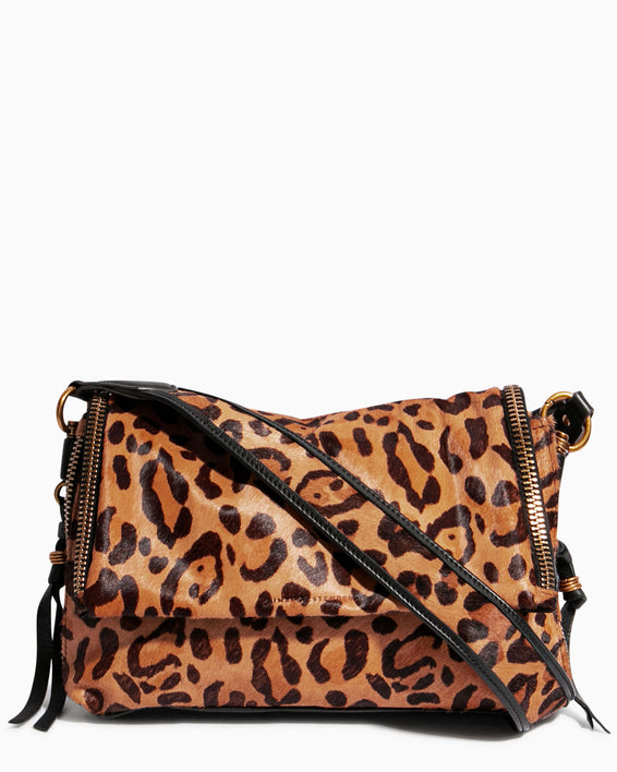 Night Is Young Shoulder Bag - large leopard haircalf front