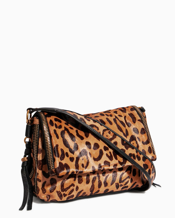 Night Is Young Shoulder Bag - large leopard haircalf side angle