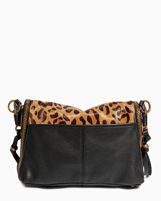 Night Is Young Shoulder Bag - large leopard haircalf back