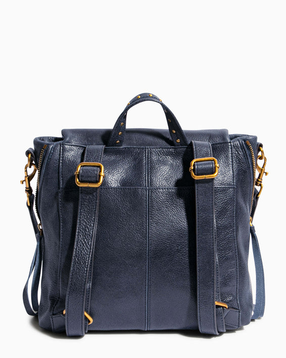 No B.S. Convertible Backpack - deep indigo back