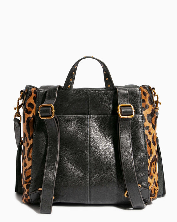 No B.S. Convertible Backpack - large leopard haircalf back