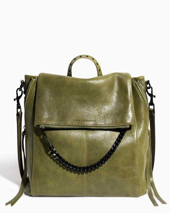 No B.S. Convertible Backpack - olive front