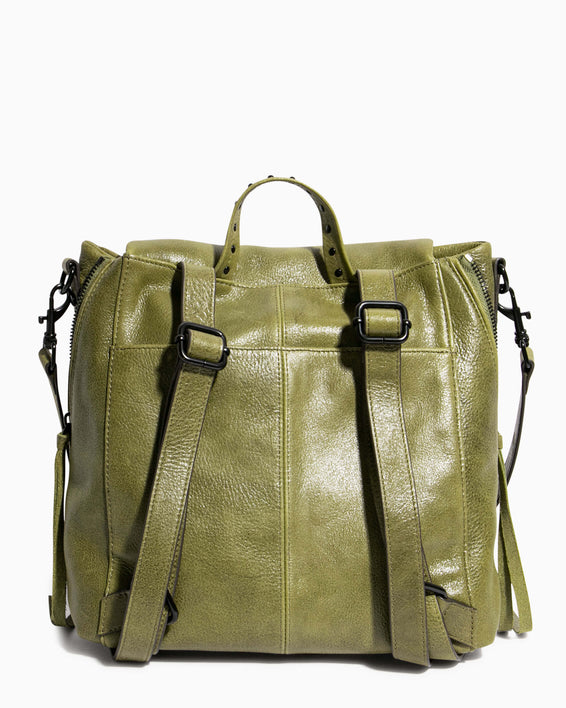No B.S. Convertible Backpack - olive back