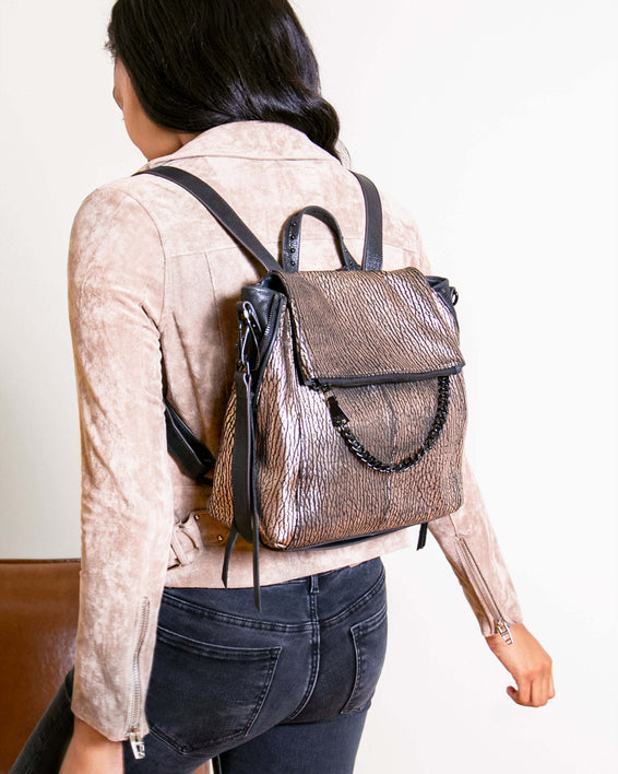 No B.S. Convertible Backpack - merlot on model