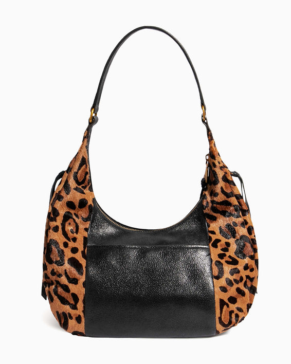 No B.S. Hobo - large leopard haircalf back
