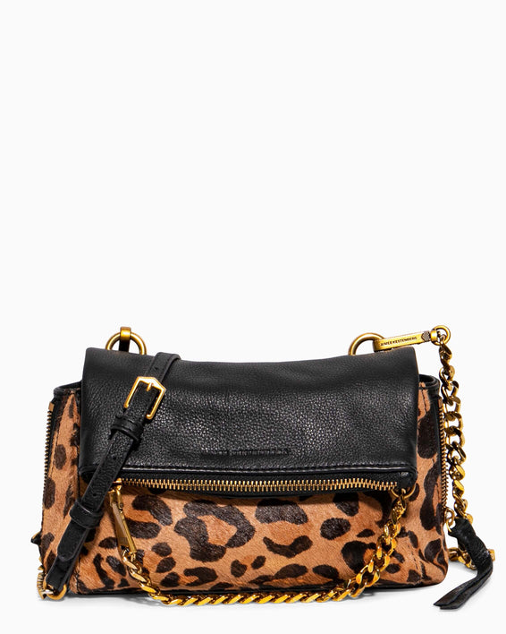 No B.S. Mini Crossbody - large leopard haircalf front