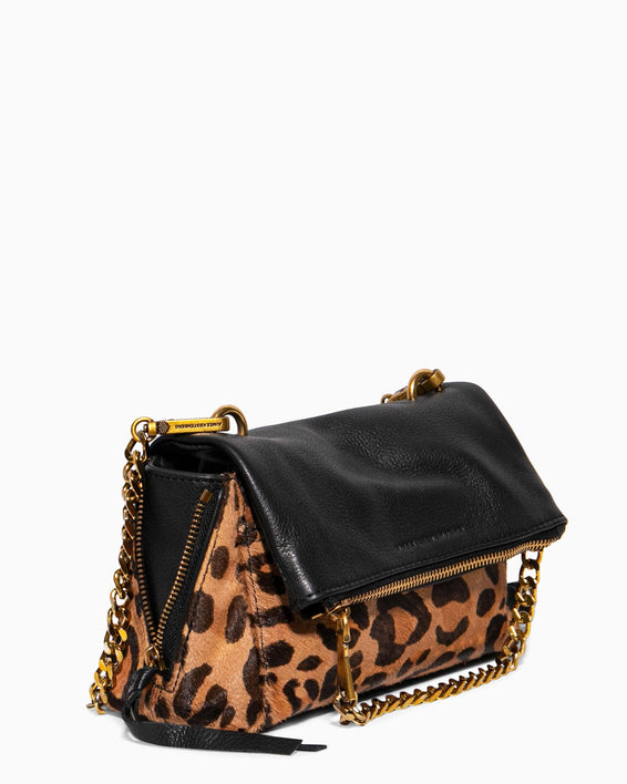 No B.S. Mini Crossbody - large leopard haircalf side angle