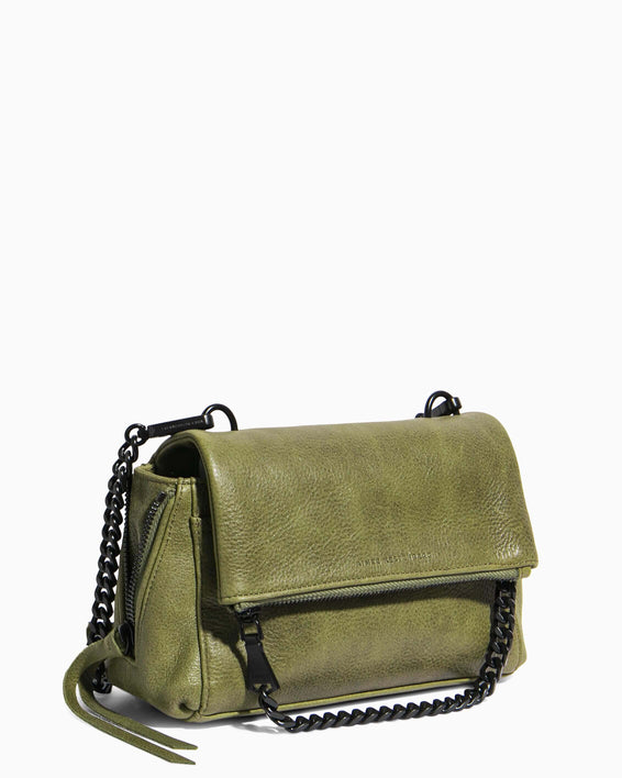 No B.S. Mini Crossbody - olive side angle